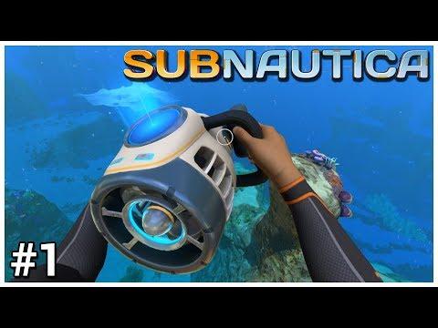 Subnautica - #1 - Splash Landing - Let's Play / Gameplay / Construction