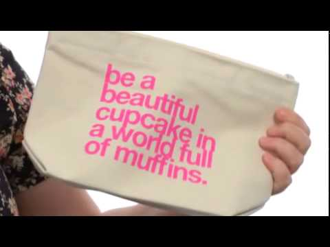 Dogeared Be A Beautiful Cupcake Lil' Zip Canvas - Shoppersfeed.com Free Shipping BOTH Ways