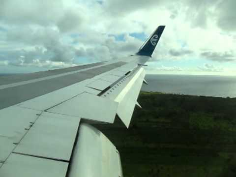 Air New Zealand over The Kingdom of Tonga...