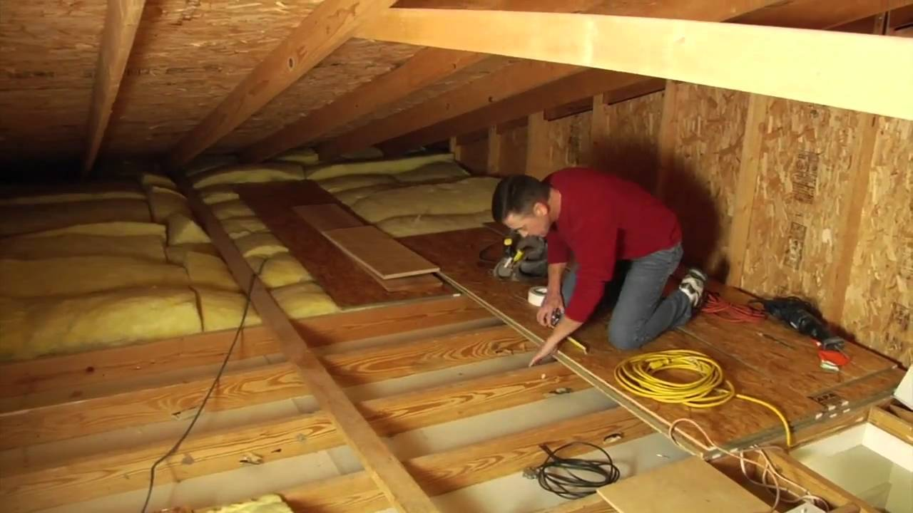 & Louisville Ladder Elite Attic Ladder Installation - YouTube