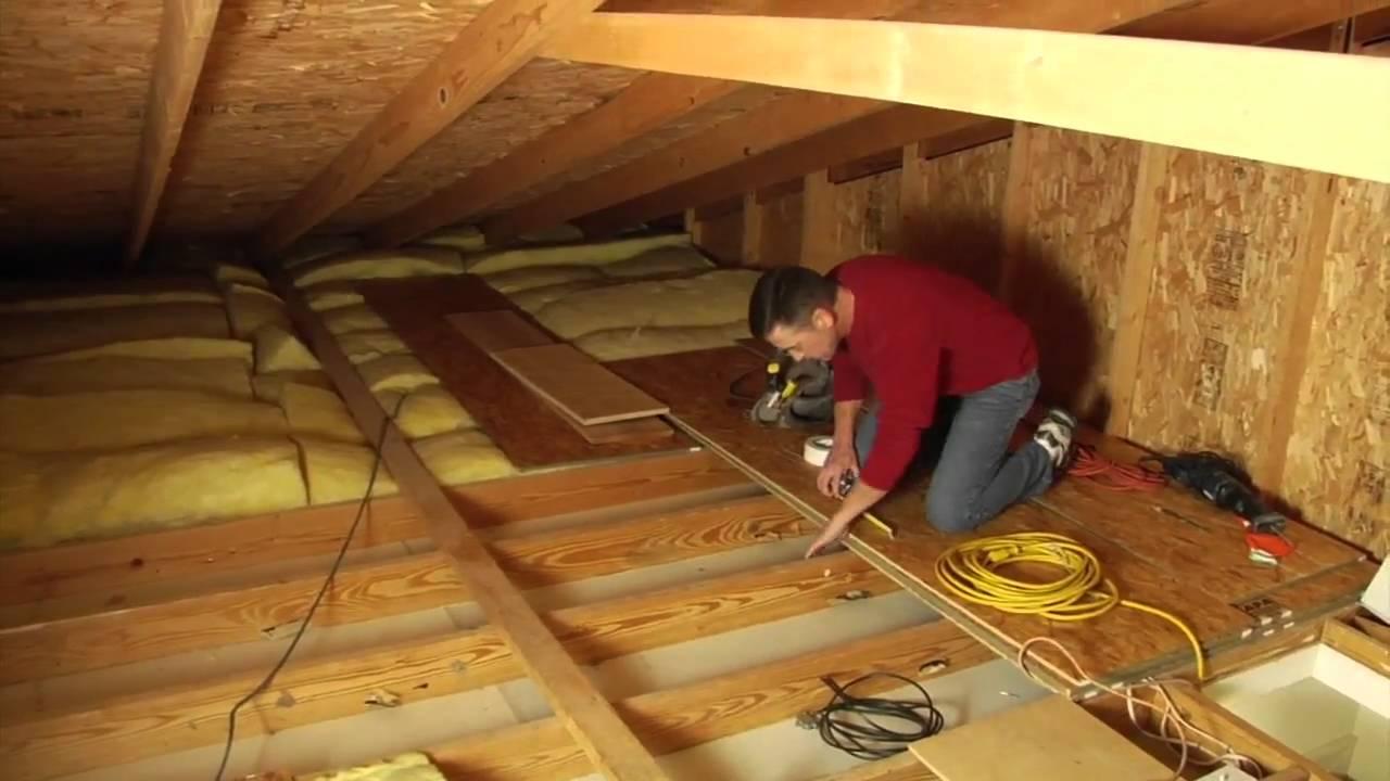house wiring an attic [ 1280 x 720 Pixel ]