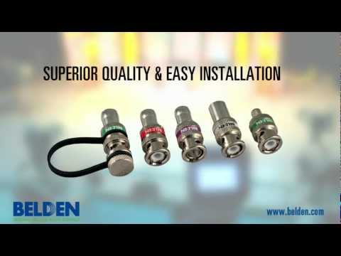 Belden Brilliance® High-Definition BNC Connectors