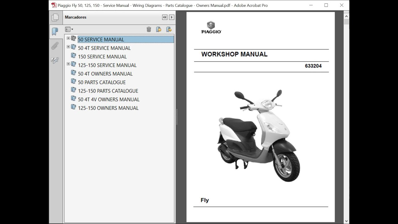 Piaggio Fly 50  125  150 - Service Manual