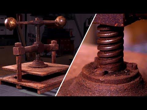 Restoring a RUSTY Book Press - Antique tool restoration!
