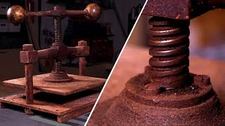 Restoring a RUSTY Book Press - Antique tool restoration!