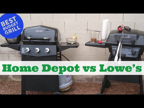 Cheapest Gas Grill!  Lowe's Vs Home Depot (Best Budget Grill)