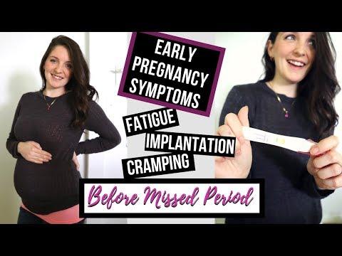 MY EARLY PREGNANCY SYMPTOMS/ TTC 2018 / BEFORE BFP! - YouTube