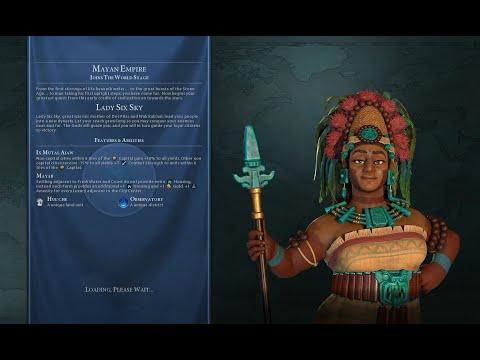 Civ VI Maya Domination Deity Huge Detailed Continents Marathon Blowing 3 Million Gold! 24 |