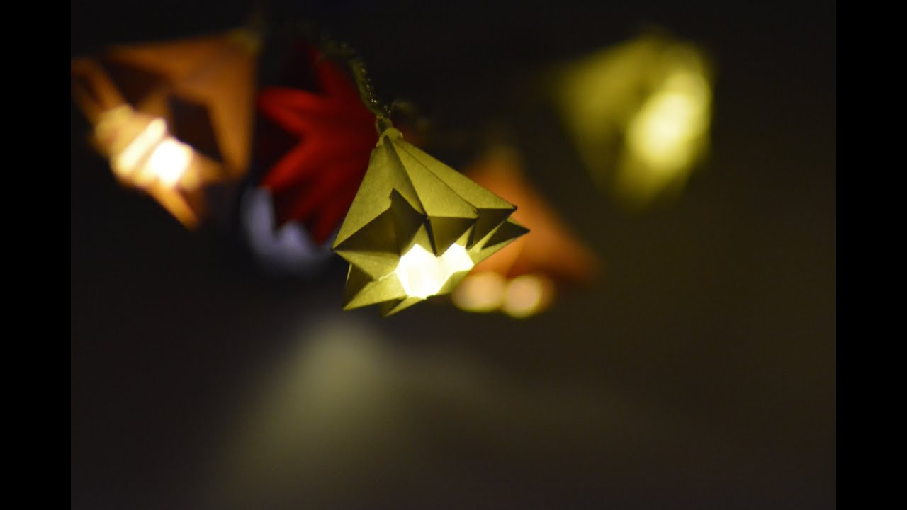 beautiful origami lights tutorial youtube