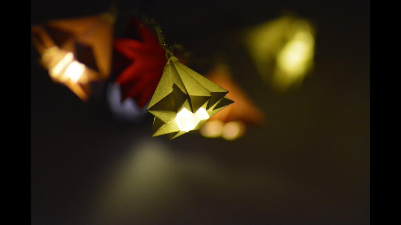 Beautiful Origami Lights Tutorial  YouTube