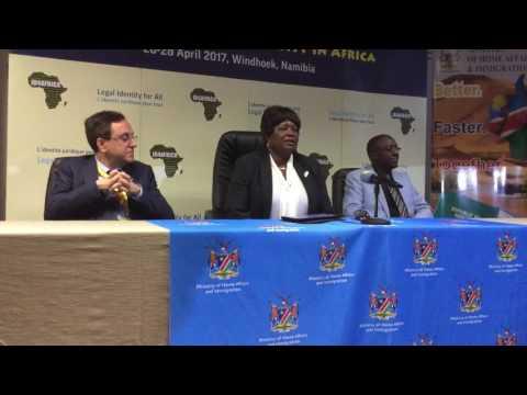 Namibia Minister of Home Affairs and Immigration Hon. Pendukeni Iivula-Ithana welcomes ID4Africa
