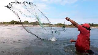 Red De Pesca Malla Atarraya De Pesca Red De Pescar con Fundiciones Deportiva NEW