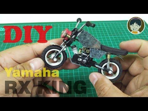 How to Make Yamaha RX King Toys from Cheap Lighters   Limbah Korek Gas    Buba Mini Hobby