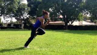 Liziwe Workout on a #Gunrex training system