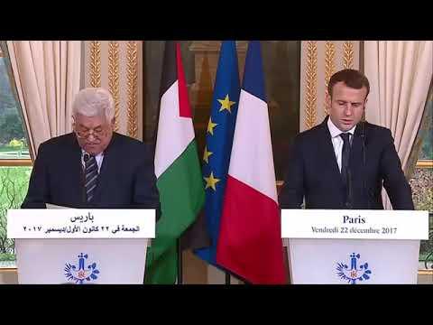 Discours d'Emmanuel Macron et de Mahmoud ABBAS, président palestinien