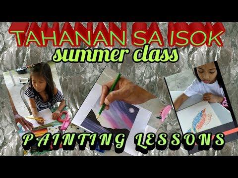 #drawing/painting lessons🎨# TAHANAN SA ISOK# SUMMER CLASS