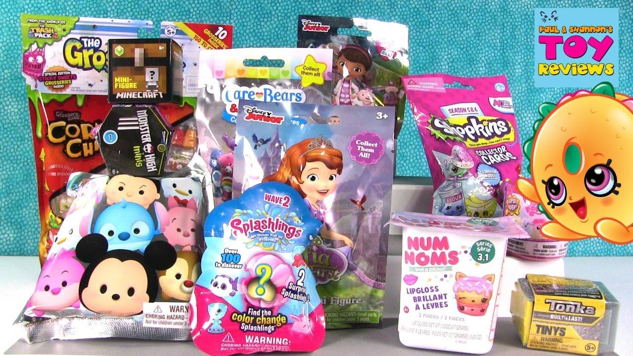 Disney Num Noms Shopkins Splashlings Blind Bag Toy Opening