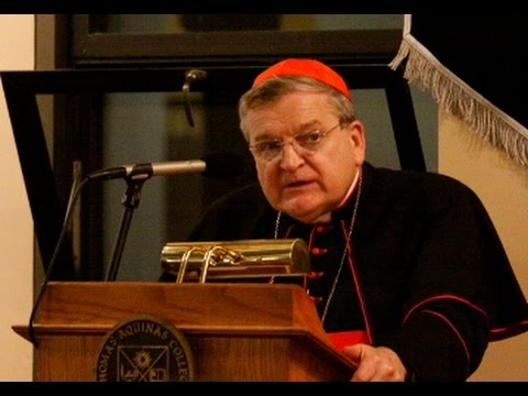 Cardinal Burke at Thomas Aquinas College
