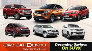Best Year-End SUV Deals & Discounts    Offers On 2018 Nexon, EcoSport, Fortuner & More