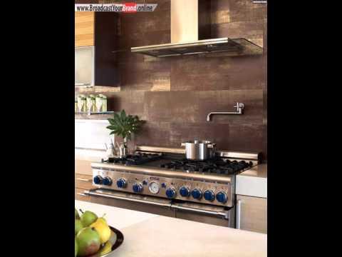 Moderne Küche Fliesen Braun Golden Stein Wand Gestalten Wandfarbe