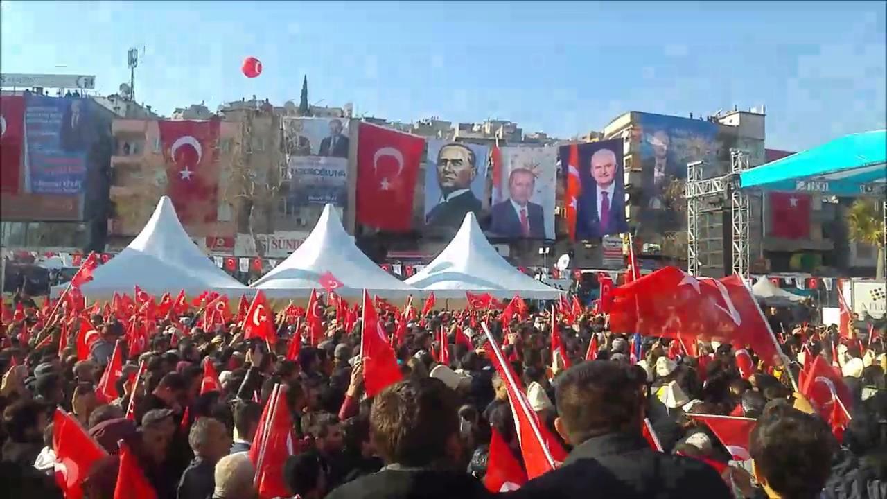 Kahramanmaraş miting başbakanın halka hitabı