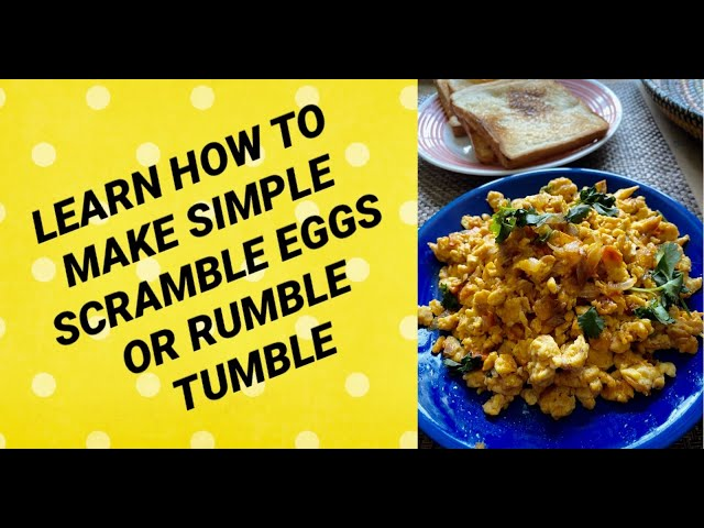 SIMPLE SPICY SCRAMBLED EGGS OR RUMBLE TUMBLE / LEARN HOW TO MAKE RUMBLE TUMBLE SCRAMBLED EGGS