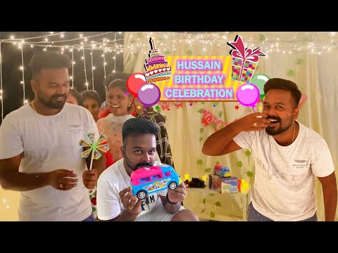 Unexpected Bday gifts 🎁 Hussain's Emotional moment 😃 Hussain Manimegalai