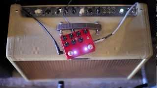 "JHS Pedals ""State Line"" Limited Run 2 in 1 Overdrive Quick Demo in HD"