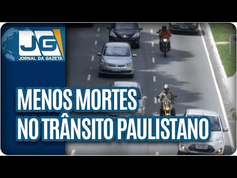 Menos mortes no trânsito paulistano