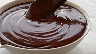 как сделать глазурь из шоколада