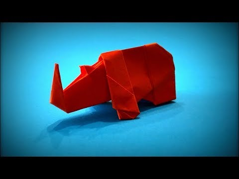 Origami Animals | How to Make a Paper Rhino DIY (Paper Animals) - Easy Origami Step by Step