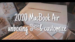 2020 Macbook Air UNBOXING & CUSTOMIZE