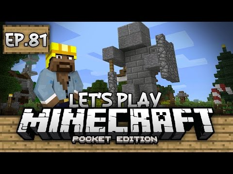 Survival Let's Play Ep. 81 - STATUES AND SPIDER JOCKEYS!!! - Minecraft PE (Pocket Edition)