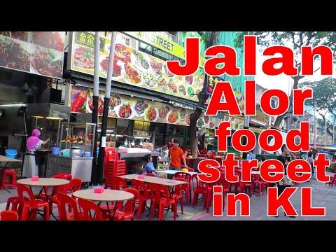 Jalan Alor (Alor Street) in Kuala Lumpur, Malaysia