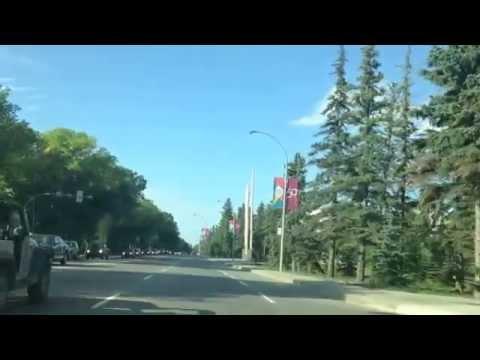 Canada Summer -Regina, Saskatchewan, Canada - Albert Street (Main Street)