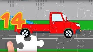 Puzzle. Autos 6. Die Abschleppfahrzeuge.