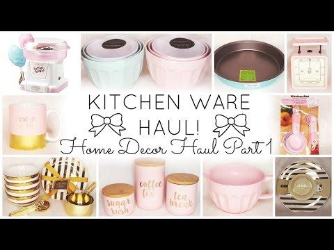 Kitchen Ware Haul ♡ Home Decor Haul Part 1 ♡ HomeGoods, TJ Maxx, World Market
