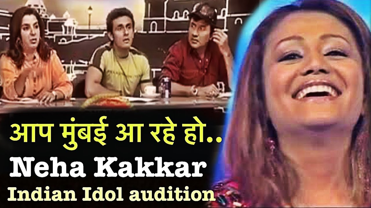 omg neha kakkar reaction selected audition indian idol song tinka tinka jara