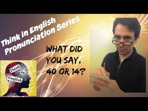 Pronunciation Four: How to say numbers in English