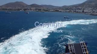 Travel with Blue Star Delos from Paros via Naxos to Santorini