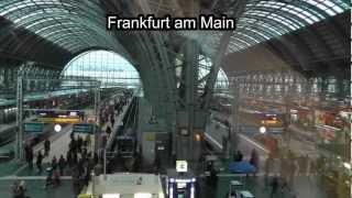 Frankfurt / Berlin: ICE-Fahrt mit 250 km quer durch Deutschland. Train journey across Germany