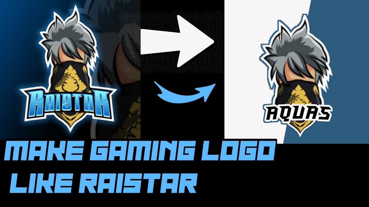 How To Make A Gaming Logo Like Raistar Free Fire In Android 2020 Youtube