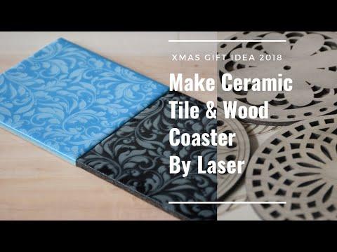 Make Ceramic Tile Coaster & Wood Coaster with Omni Laser Machine