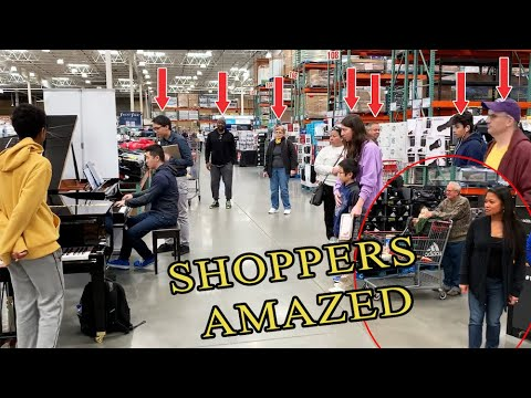 Playing Beethoven Virus At Costco Public Piano Youtube