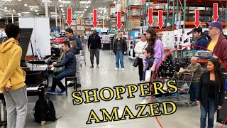 Playing Beethoven Virus at COSTCO (public piano)