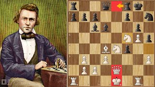 Only One Move Stops Morphy's Onslaught || Morphy vs Lichtenhein (1857)