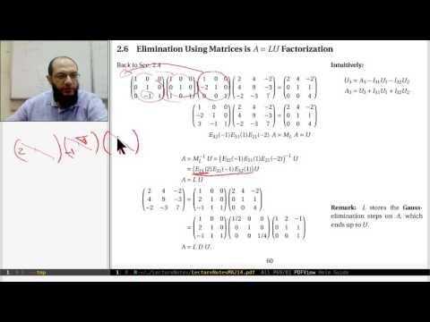 18 Sec. 2.6 LU Factorization (a): is Gauss-elimination