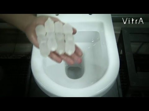 Испытание унитазов VitrA на смыв