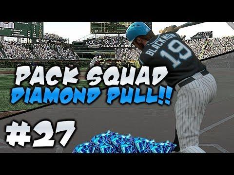 DIAMOND PULL! LEGIT THIS TIME! PACK SQUAD #27 MLB 17 DIAMOND DYNASTY!