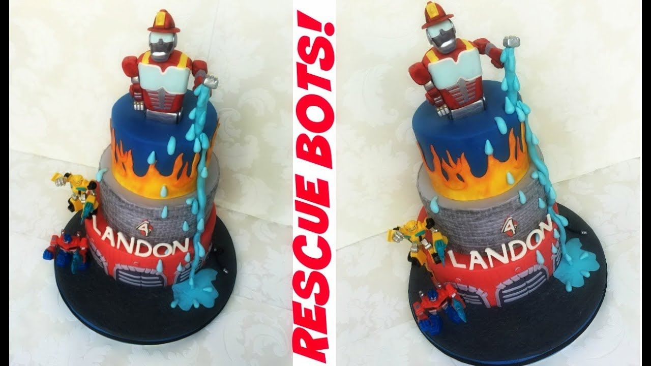 Making A Rescue Bots Transformers Cake Youtube